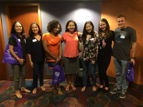 TRMD grad students with Dr. Chang at the Kahala Theatres